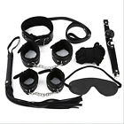 Unisex - 7PcSet Adult Sex Toy SM Handcuffs Cuffs Strap Whip Rope Neck Cosplay Bandage US
