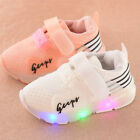 Autumn Toddler Baby Shoes Boys Girls LED Luminous Sport Running Shoe Sneakers US