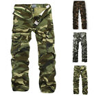 Fashion Men's New Cargo Camo Combat Military Trousers Camouflage Pants Casual SZ