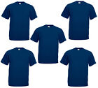1 or 5 Men's Fruit Of The Loom Cotton Plain T Shirt Tee Shirt TShirt T-Shirt Lot