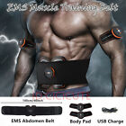 USB Charging ABS Stimulator EMS Abdominal Fitness Gear Body Muscle Training Belt