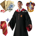 New Harry Potter Cape Cosplay Costume Unisex Gryffindor Robe Cloak/Tie /LED Wand <br/> Ships from California,Free Dark Mark Bumper Sticker