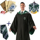 New Harry Potter Cape Cosplay Costume Unisex Gryffindor Robe Cloak/Tie /LED Wand