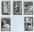 2002 Topps 1952 World Series Highlights Insert Pick the Card Finish Your Set