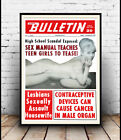 National Bulletin : old magazine cover , Reproduction poster, Wall art.