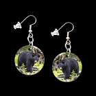BLACK BEAR 31067 button earrings necklace ponytail baubles pins western jewelry