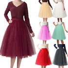 US Stock Womens Tulle Short Tutu Skirt Knee Length Princess Ballet Party Dress
