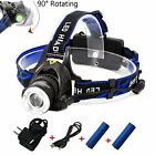 Rechargeable Headlamp1800 Lumens Zoomable Waterproof LED head lamp flshlight ...