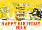 Cuphead Cup Head Xbox One Computer Game Party Cake Decoration Icing Sheet