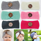 Cute Kids Girl lovely Knitting Button Headband button hairband Phtography Props