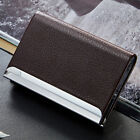 Aluminum PU Leather Wallet Box Business Credit Card Name Id Card Holder Case