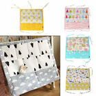 Cute Cartoon Baby Cot Bed Diaper Hanging Cloth Nursery Toy Storage Bag Organizer