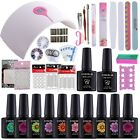 Nial Polish Art Design Set 24W Lamp curing UV Gel Nail Color Gel Kit