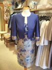 26357 John Charles Bluebell lace Jacquard Mother of Bride Outfit RRP £895