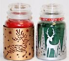 Yankee Christmas Metal Jar Holder - Reindeer Flight Shimmering Forrest U Choose