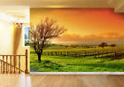 3D Orange Sky Farm 7 Wall Paper Murals Wall Print Wall Wallpaper Mural AU Summer
