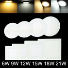 6W 9W 12W 15W 21W LED Panel Ceiling Down Light Home Office Indoor Natural Lamp