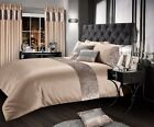 Luxury Crushed Velvet Natural Duvet Cover Set Single Double King Super King