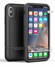 Apple iPhone X Dual Layer Tough Case w/ Screen Protector (Encased RB45BK) Black