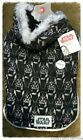 Darth Vader Dog Coat/Hoodie with Faux Fur Hood Trim; Sizes: M, L & XXL.