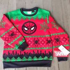 MARVEL SpiderMan Ugly Christmas Sweater Youth Pull Over Many Sizes NWT FREE SHIP