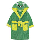 Boys Dinosaur Triceratops Robe Kids 3D Hooded Soft Bath Robe Dressing Gown 2-6Yr