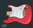 Load.STRAT Rep.Body FIESTA RED Kinman HANK MARVIN Trem Gotoh GE101TS GOLD WPearl