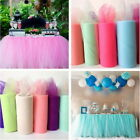Tulle TUTU Table Skirt Tableware Wedding Party Xmas Baby Shower Decor