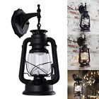 copper outdoor light - Vintage Rustic Lantern Lamp Industrial Retro Metal Wall Mount Sconce Light E27