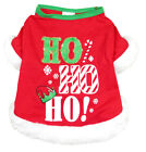 HO HO HO Dog Holiday Shirt Tshirt faux fur gold glitter elf NEW