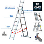 TB Davies Light Duty Triple Extension / Combi Staircase 4Way Ladder