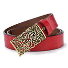 Retro Pattern Nostalgic womens Belts really Leather belt belt for jeans All Size