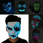 Face Mask With LED Light For Party Halloween Dance Cosplay Carnival Decor Lot T2
