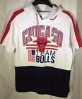 NWT NBA Chicago Bulls Shirt Sleeve Hoodie Sweatshirt Men's - Multiple Sizes