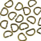 12mm 1/2 in. Brass/Chrome Metal D-Ring for Straps Bag Making Dee D-loop