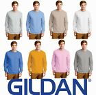 Gildan Ultra Cotton Long Sleeve T-Shirt Mens Soft Color Plain Blank S-5XL 2400
