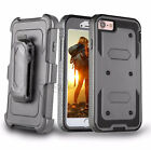 Shockproof RUGGED Belt Clip Stand Holster case cover  BUILT-IN SCREEN PROTECTOR