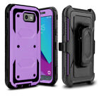 Shockproof RUGGED Belt Clip Stand Holster case cover +BUILT-IN SCREEN PROTECTOR