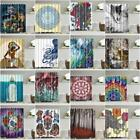 US Bathroom Waterproof Polyester Fabric Various Pattern 12Hooks Shower Curtain