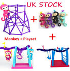 WowWee Fingerlings Electronic Interactive Finger Toys Baby Monkey + Playset Sale