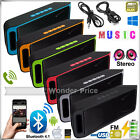 USB Wireless Bluetooth Portable 4.1 Speaker Sound Stereo Subwoofer Support FM TF