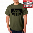 JEEP MILITARY GREEN T-SHIRT Wrangler Shirt Short Sleeve Cherokee Off Road Tee image