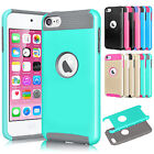 PC Shockproof Hybrid Rugged Rubber Matte Hard Case For iPod Touch 5 6 5th 6th