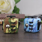 Camo Fidget Cube Anxiety Stress Relief Focus Dice Bag Case Carry Packet Black