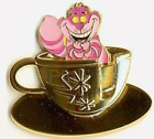Pin 38481 DLR Golden Vehicle 50th Anniversary Mad Tea Party Cheshire Cat teacup