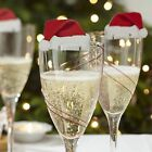 Xmas Christmas Decoration Hat cap Champagne Glass Decor Paperboard Holiday Party