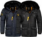 Geographical Norway Luxus warme Herren Winter jacke Parka Anorak Outdoor Mantel