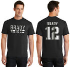 Tom Brady New England Patriots Jersey T-Shirt or Hoodie Youth and Men's Sizes