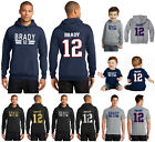 Tom Brady New England Patriots Jersey T Shirt or Hoodie Youth and Mens Sizes