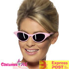 Pink Ladies Grease Sunglasses Flyaway Rock and Roll Diamante Glasses 50s 1950s